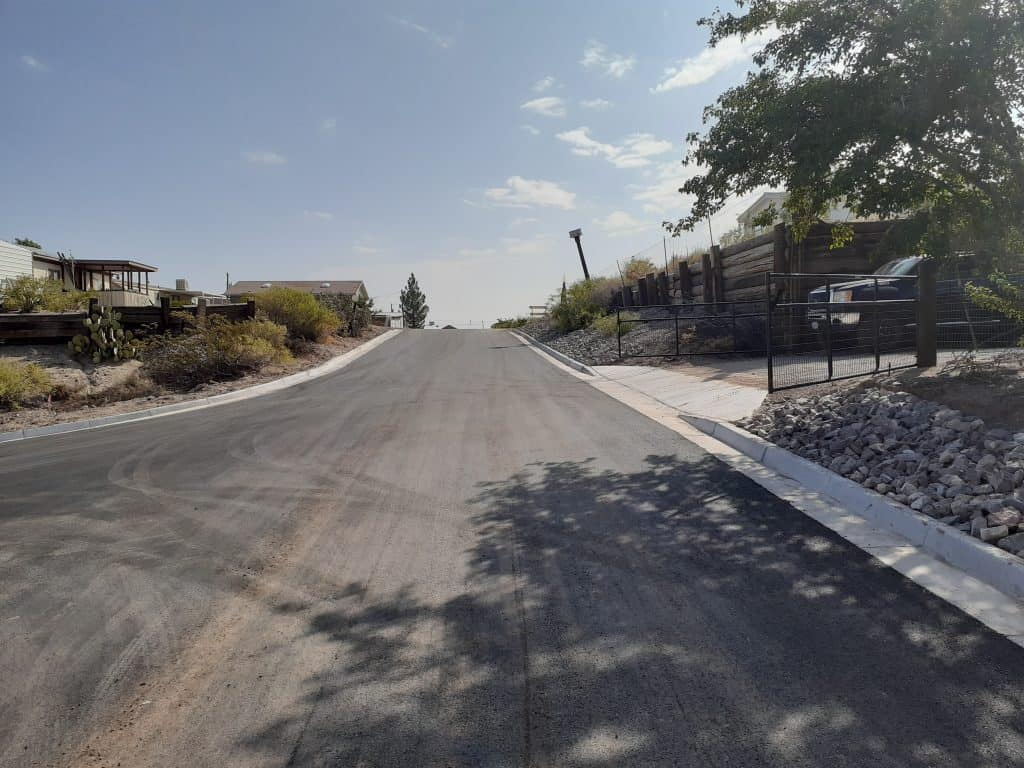 Camino Cinco with new paving and drainage improvements