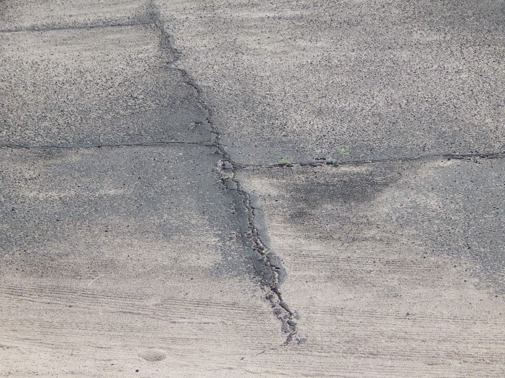 crack in county parking lot