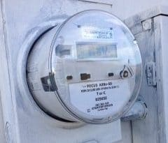 newly installed smart meter