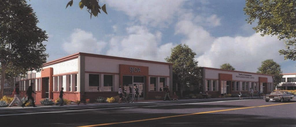 Facade of new proposed building to house the Sierra Joint Office on Aging