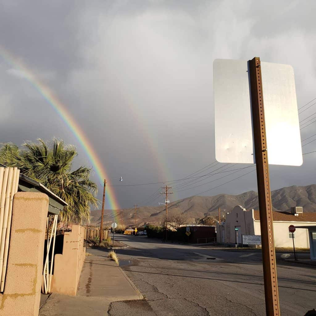 Double rainbows visible in Truth or Consequences last week