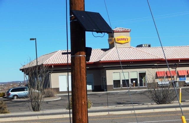 T or C police surveillance camera across from denny's