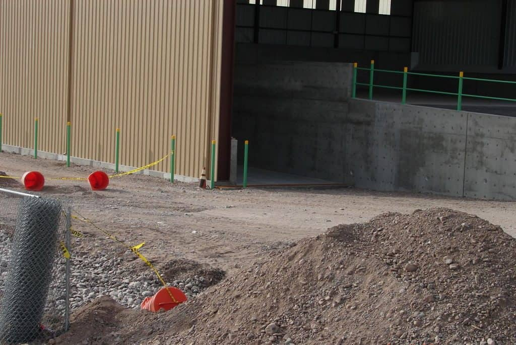French drain during construction of T or C's waste transfer station