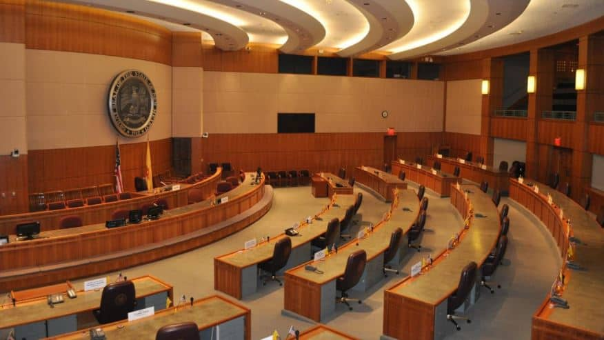 Senate chambers in New Mexico Roundhouse