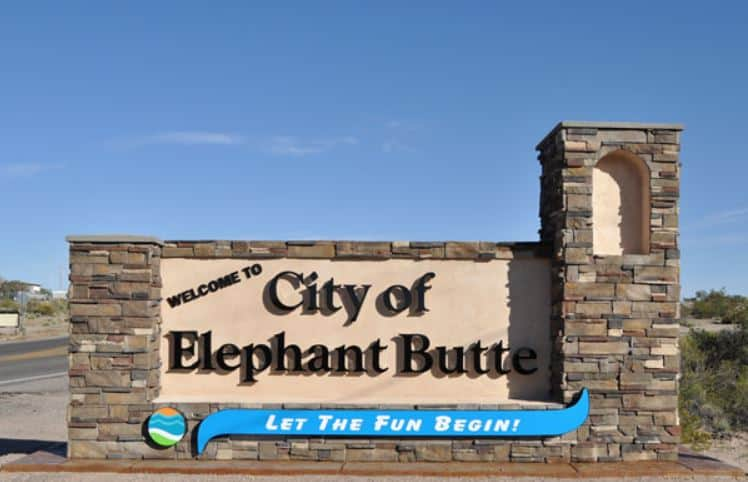 City of Elephant Butte welcome sign
