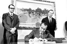 President Nixon signing Clean Air Act in 1970