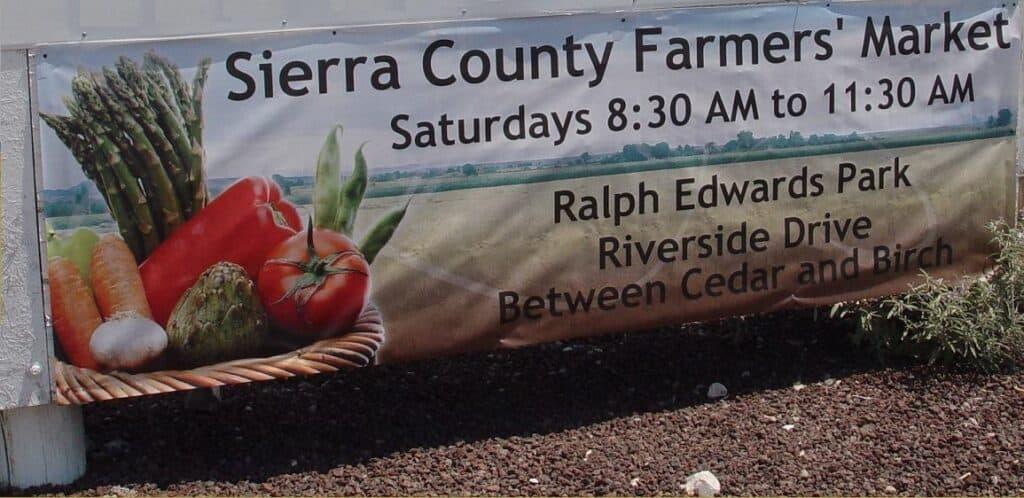 Sierra County Farmer's Market banner