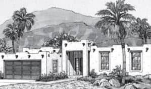 drawing of new build Southwestern home