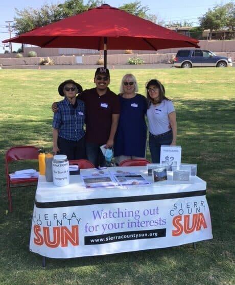 Sun's editorial team at Farmer's Market
