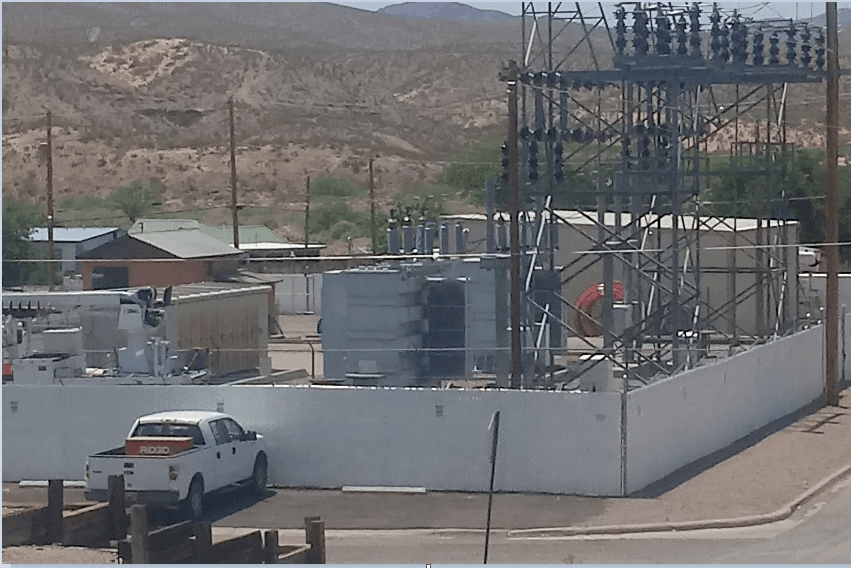 repaired transformer at the Riverside Drive substation