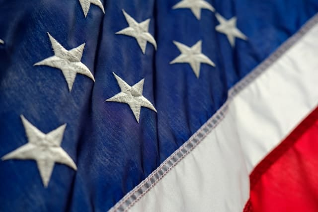 Detail of American flag