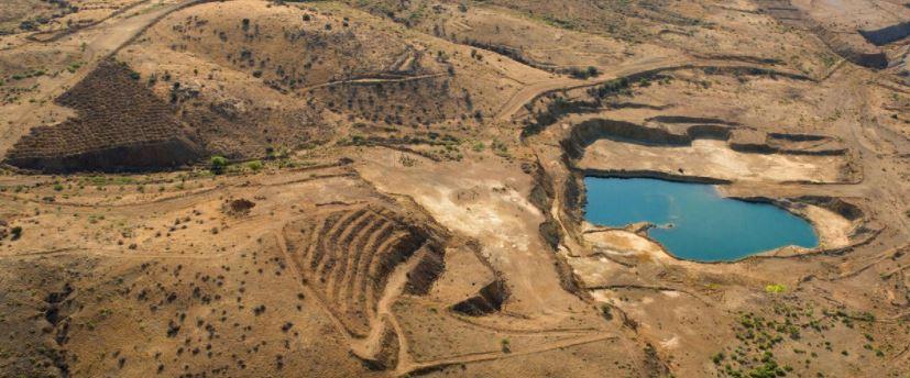 Aerial view Copper Flat mine site