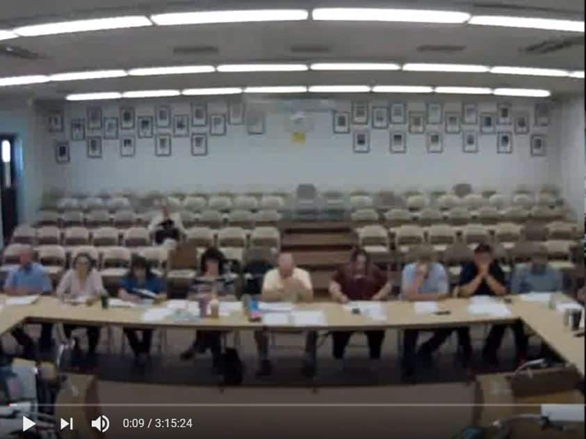 department heds at Aug 9 budget meeting