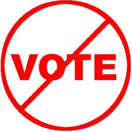 vote prohibited graphic